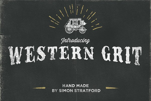 Western Grit hand made typeface