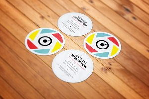 Photography Round Business Card