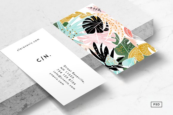 tropical business card template business card templates creative market