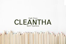 Cleantha Serif 5 Font Family Pack