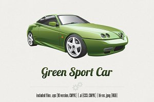 Green Sport Car