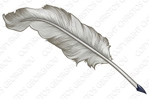 Quill Feather Pen Cartoon