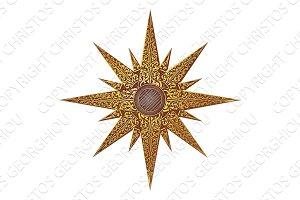Gold Abstract Star Illustration