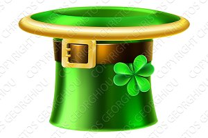 Leprechaun Shamrock Green St Patricks Day Hat