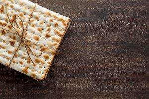 Jewish Matzah bread