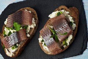 Marinated Herring Sandwiches