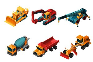 Isometric construction machines set