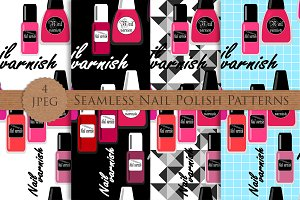 NAIL POLISH laque seamless patterns
