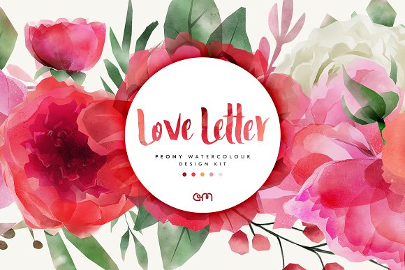 Love Letter Peony Watercolour