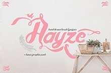 Hayze - Hand Drawn Bush Typeface