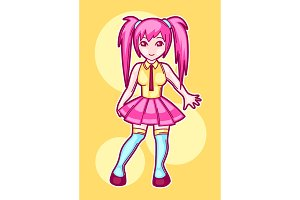 Japanese Anime Cosplay Girl Cute Fashion Character