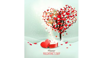 Valentine`s day background. Vector