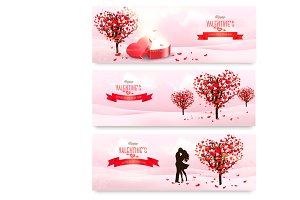 Holiday Valentine's banners.