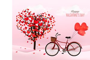 Valentine's Day background. Vector