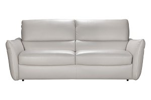 The sofa made of genuine leather.