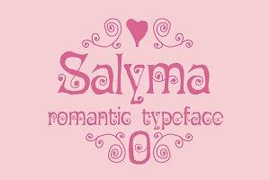 Salyma romantic typeface