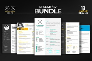 Minimal Clean Resume/CV Bundle