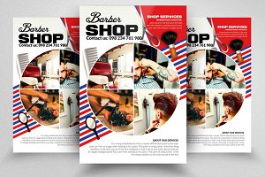 Barber Shop Psd Flyer