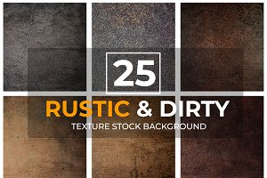 25 Rustic&Dirty Texture Background