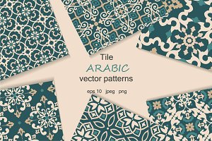 Tile arabic seamless patterns