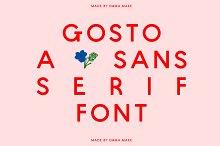 Gosto A Sans Serif Font