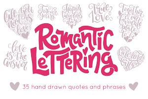 Romantic hand drawn lettering
