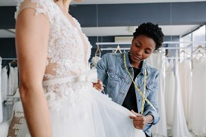 Professional wedding dress designer