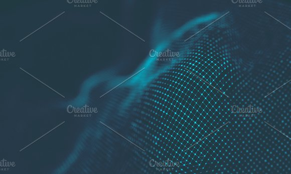 Abstract Music Background Big Data Particle Flow Visualisation Science Infographic Futuristic Illustration Sound Wave Sound Visualization