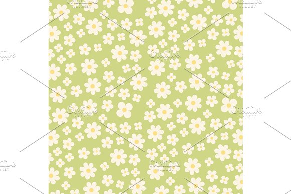 Cute Vintage Seamless Shabby Chic Floral Background For Your Decoration