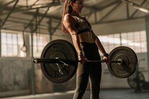 Determined and strong woman