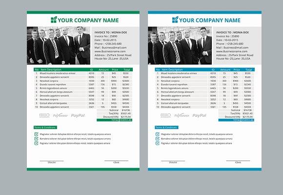 Business Invoice Bill Paper