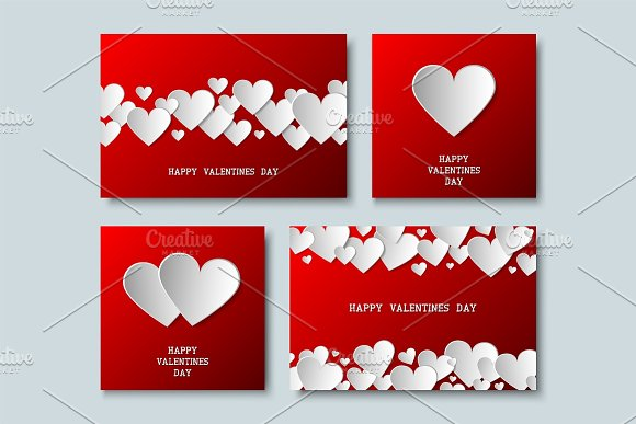 Valentines Cards With Origami Hearts