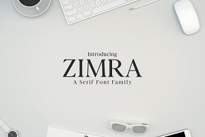 Zimra Serif 5 Fonts Family Pack