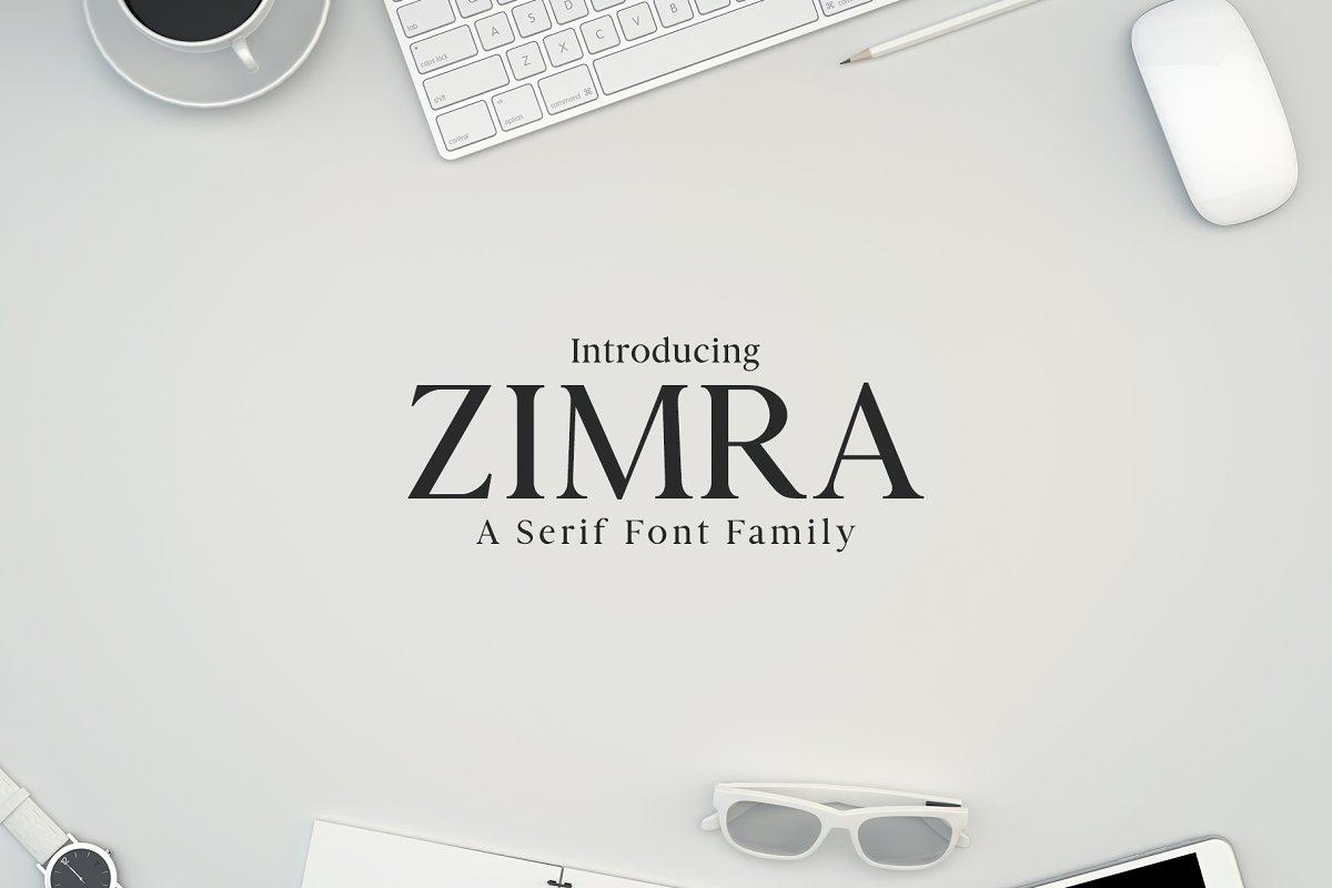 Zimra Serif 5 Fonts Family Pack