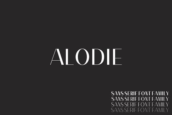 Alodie Sans Serif 4 Font Family Pack