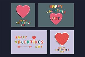 Collection of Valentines day cards