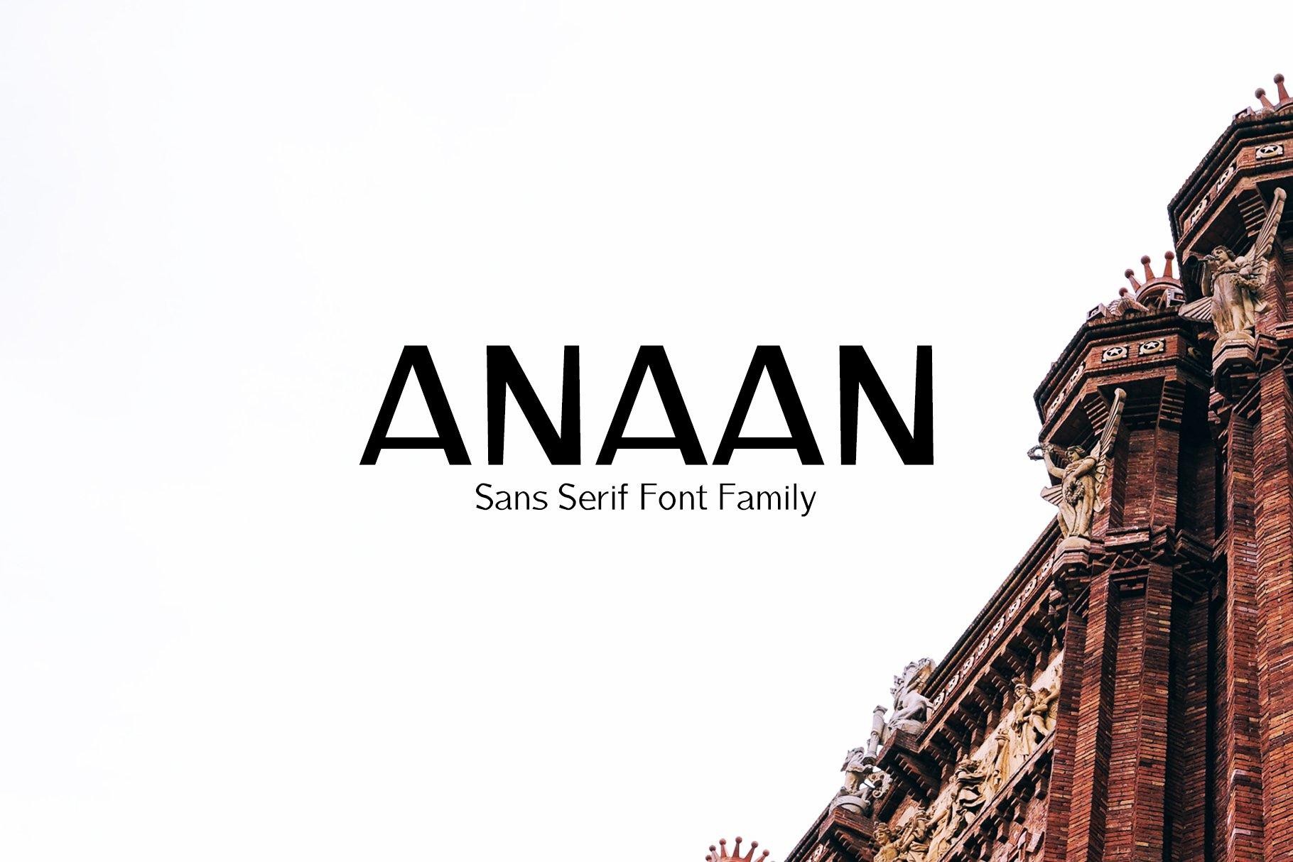 Anaan Sans Serif Font Family ~ Sans Serif Fonts ~ Creative
