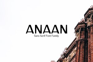 Anaan Sans Serif Font Family