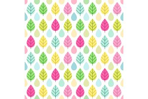 Cute vintage seamless nature background for your decoration