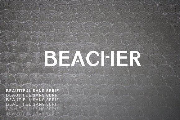 Beacher Sans Serif 6 Font Family