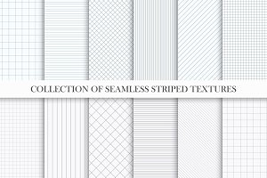 Set of seamless striped textures