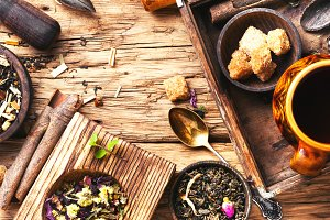 leaves of herbal tea