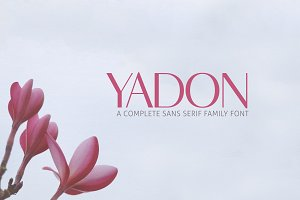 Yadon Sans Serif 7 Fonts Family Pack