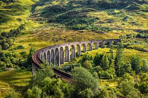 Glenfinnan Railway Viaduct in Scotland