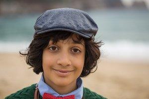 Boy in a flat cap
