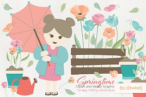 Springtime 01 Flower Clipart Vector