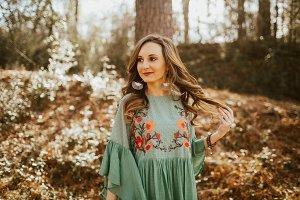 Girl Wearing Floral Dress
