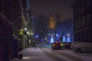 Street in city Tallinn Estonia