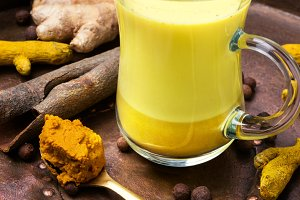 Healthy golden milk