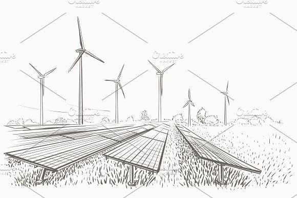 Alternative sources of energy sketch